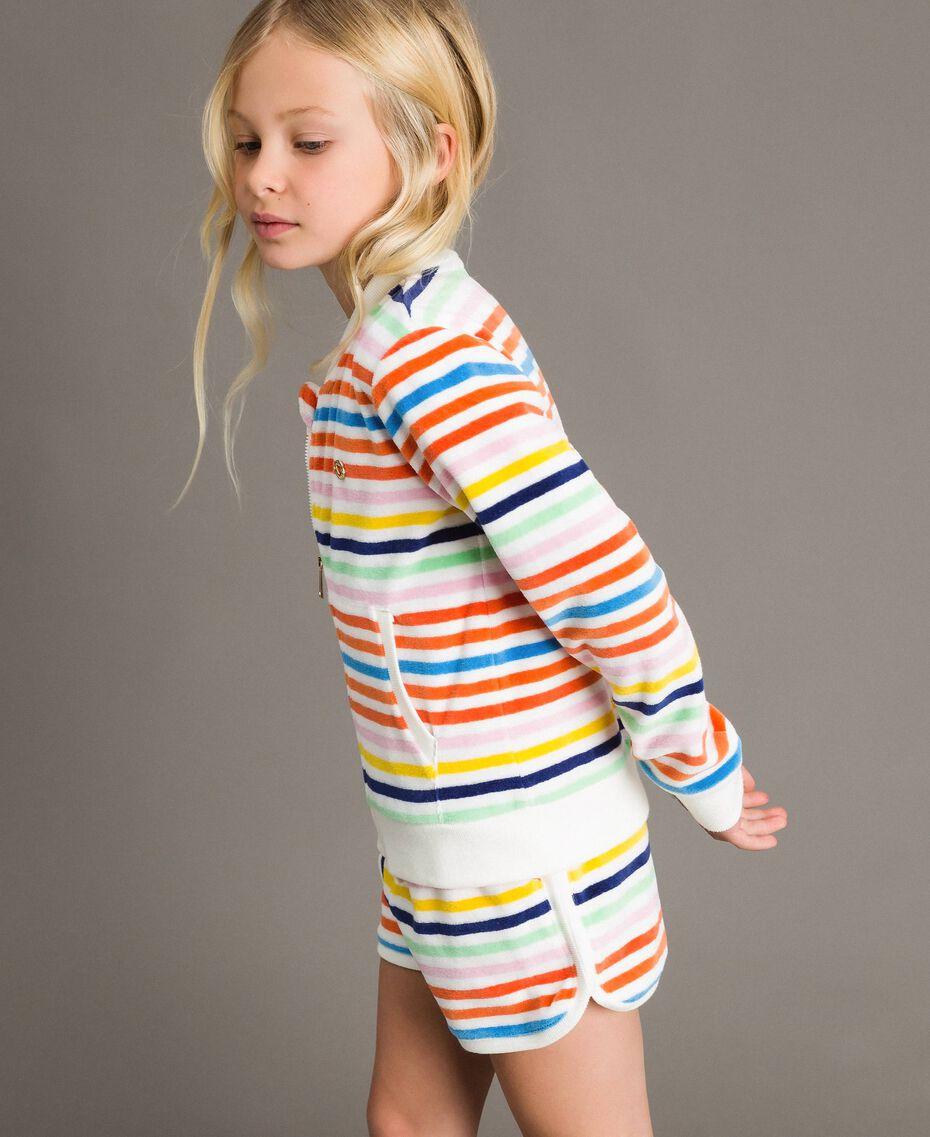 Pullover mit mehrfarbigen Streifen Streifen Multicolour Kind 191GJ2223-02