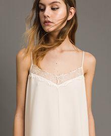 Crêpe de Chine slip dress with lace Dawn Woman 191ST2064-04