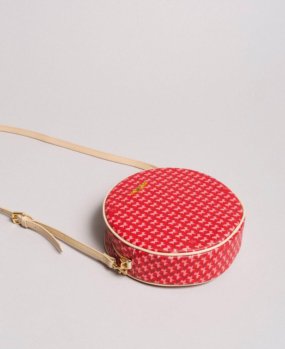 "Butterfly print shoulder bag ""Ruby"" Red Butterflies Print Woman 191TA7175-02"