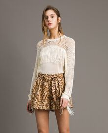 "Animal print shorts ""Petra Sandstone"" Brown Animal Print Woman 191LM2UJJ-02"