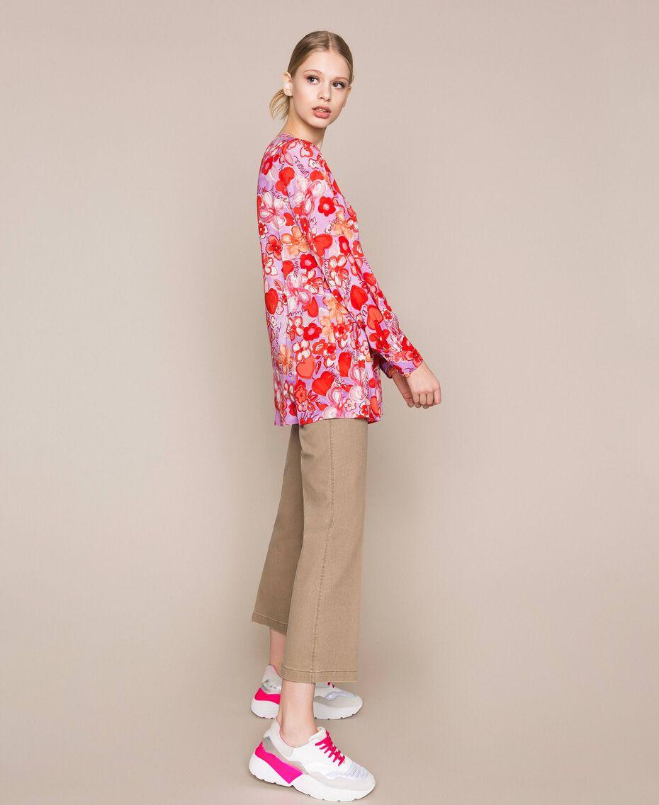 Blouse avec imprimé floral Imprimé Reve / Roses Femme 201TQ2020-03