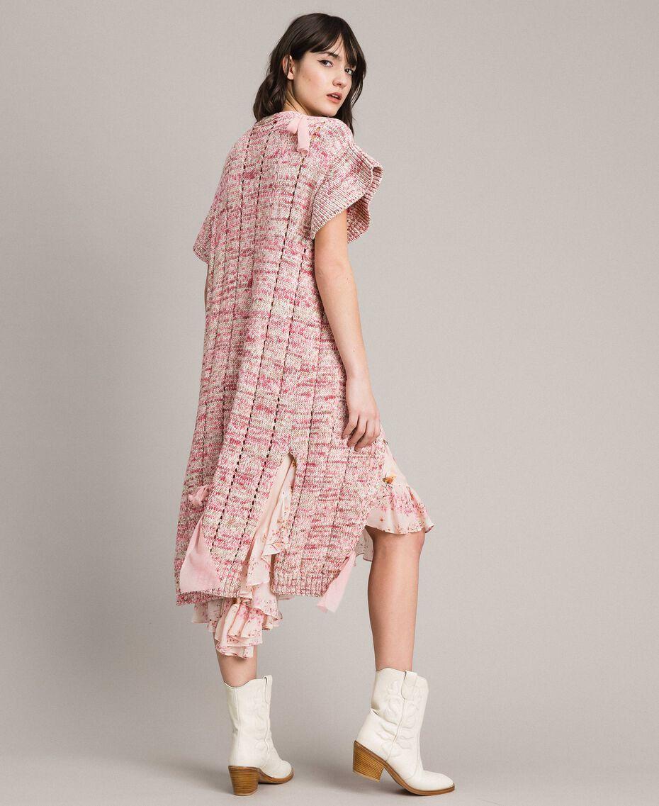 Lange Weste mit Bändern Multicolour Pinkes Muster Frau 191TP3282-05