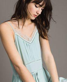 Платье из кружева и смесового шелка Аквамарин женщина 191TP2741-04