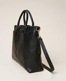 Shopper with logo Black Woman 212TB7030-02