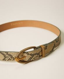 Animal print leather belt Pastel Skin Python Print Woman 202TO501A-03