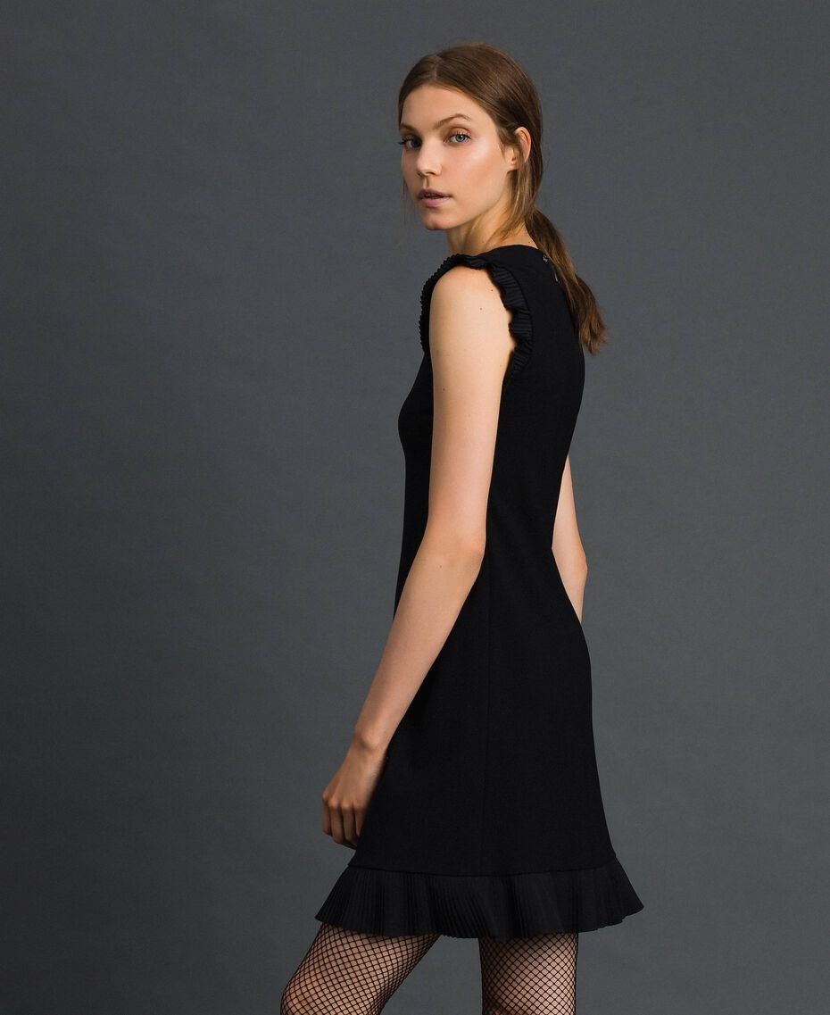 Pleated detail dress Black Woman 192TT2061-02