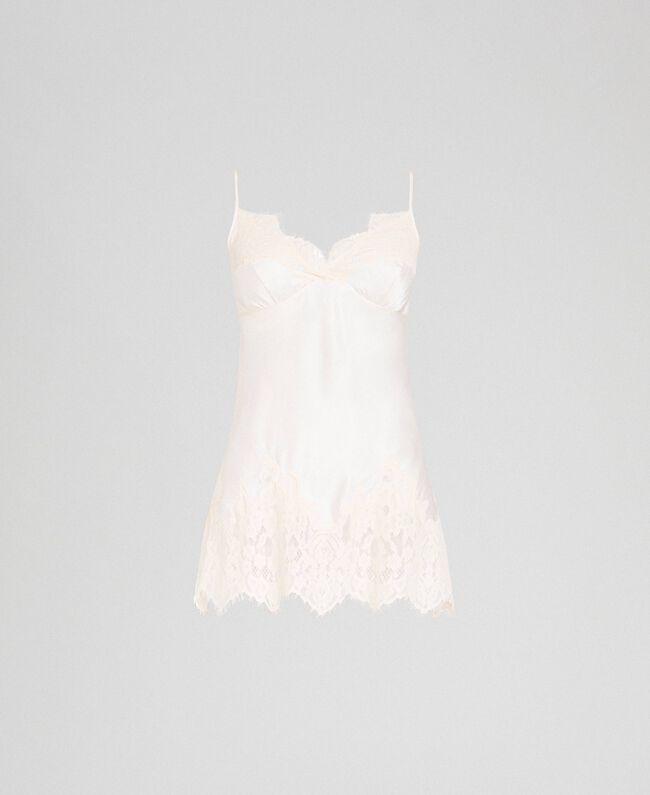 Top en satin avec dentelle Crème Femme 192LI21PP-0S