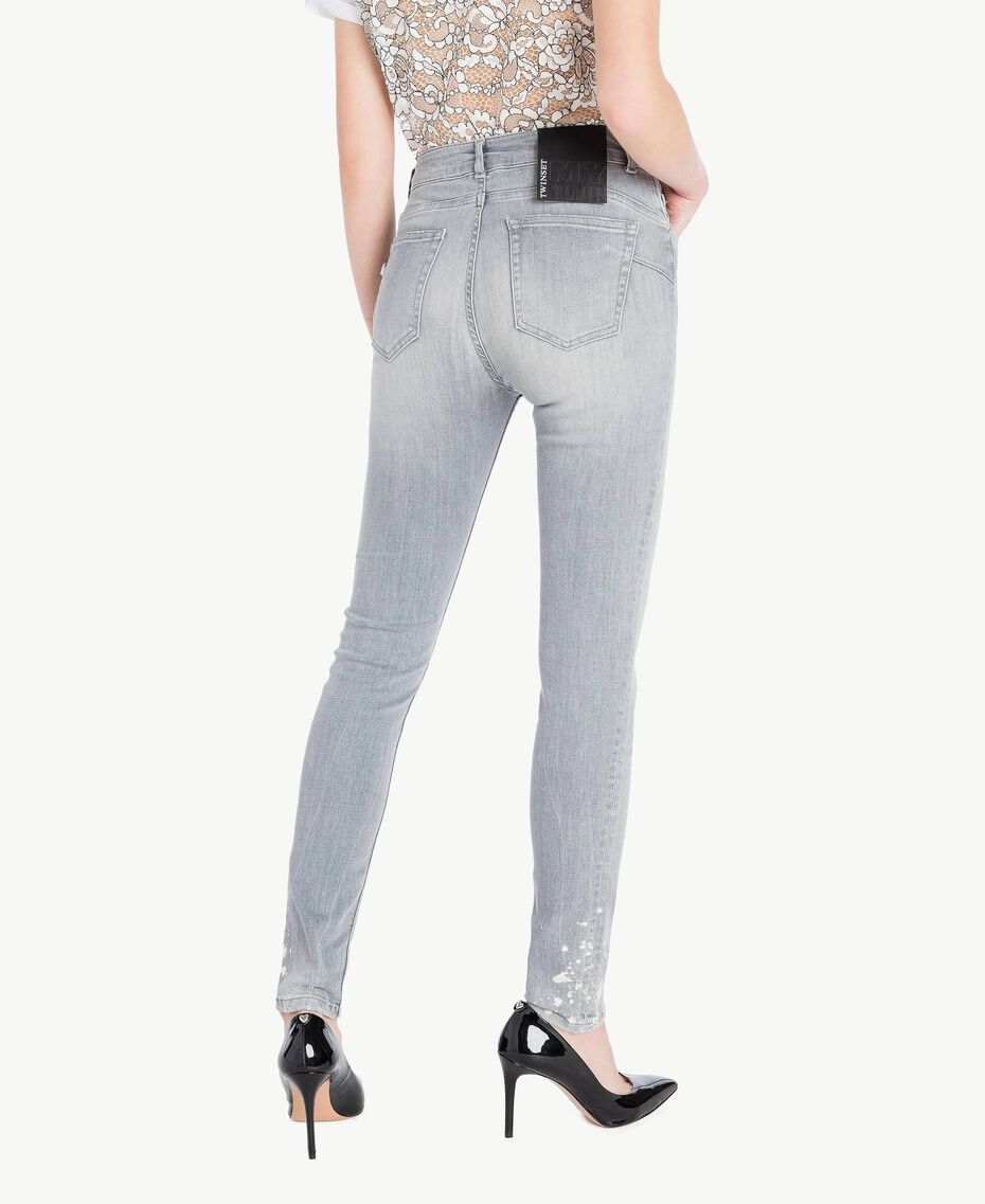 Skinny jeans Grey Denim Woman JS82Y1-03