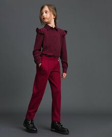 Slim fit trousers with elastic Ruby Wine Red Child 192GJ2250-01