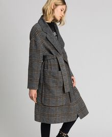 Patterned reversible coat Double Check Jacquard Woman 192TP2300-02