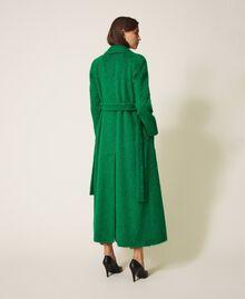 Manteau long en drap brossé Python Femme 202TP2601-04