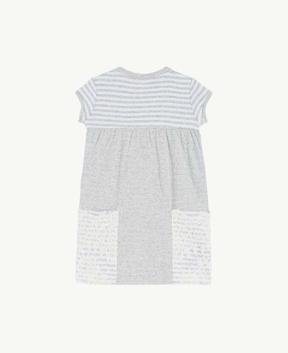 "Embroidered dress ""Papyrus"" White / Melange Grey / Chantilly Child FS82UA-02"
