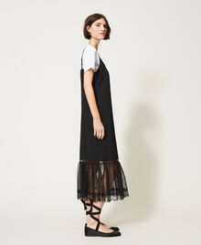 Slip dress with ladybug embroidery and T-shirt Black Woman 202TP2808-02
