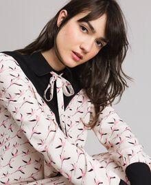 Robe chemisier avec imprimé flamants roses Imprimé Flamant Femme 191TP2760-05