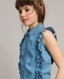 Top en denim souple Jean Doux Enfant 191GJ2561-04