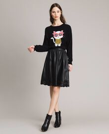 Faux leather skirt Black Woman 191MP2054-05