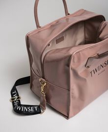 Faux patent leather weekend bag Dusty Pink Woman 192TA7172-04