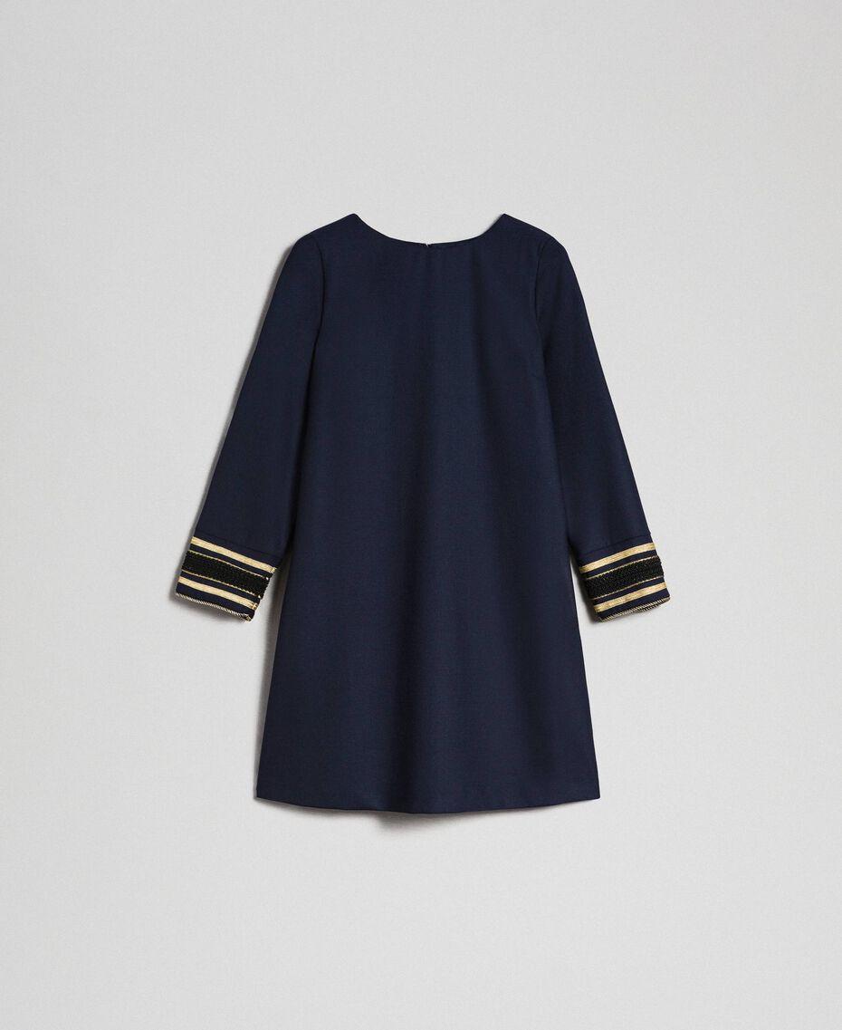 Платье из технической шерсти Синий Midnight женщина 192TT2459-0S