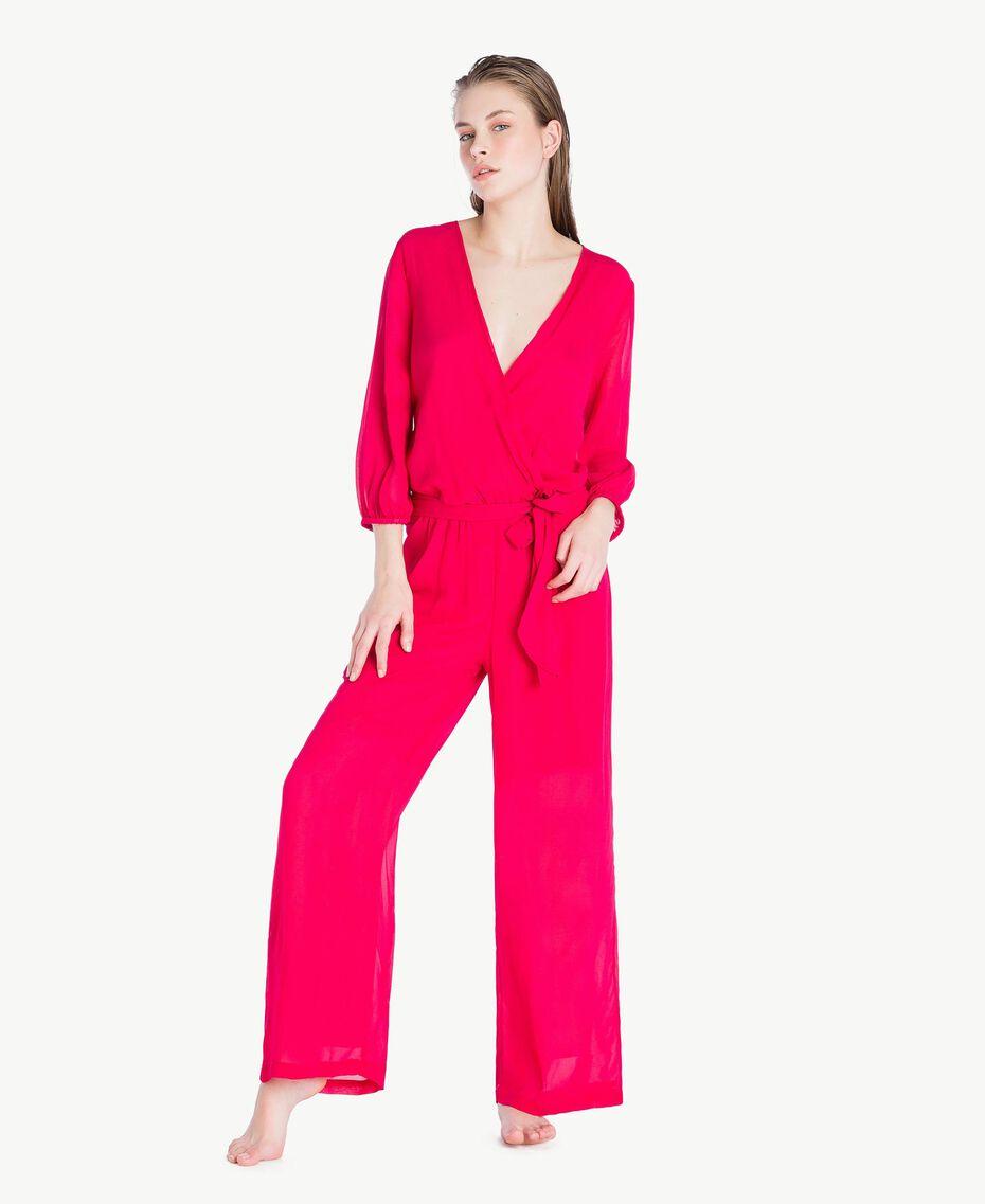 """Viscose jumpsuit """"Voluptuous"""" Pink Woman MS8FGG-02"""