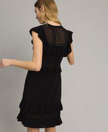 Robe en maille avec ruches Noir Femme 191TT3021-03