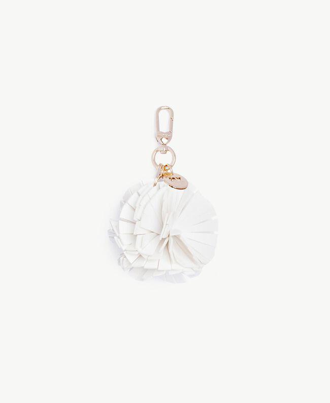 Pompom keychain White Woman RS8TD1-01