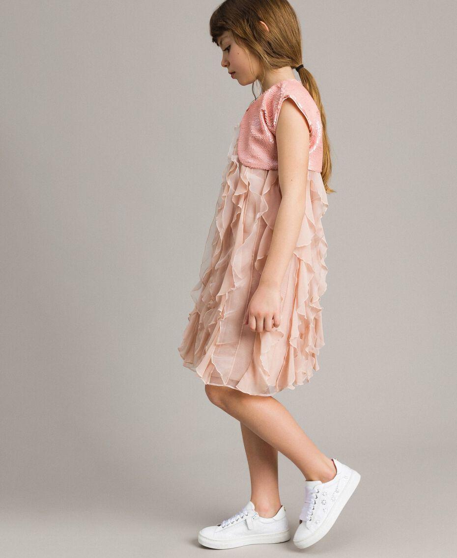 Boléro orné de sequins Rose En fleur Enfant 191GJ2Q71-02