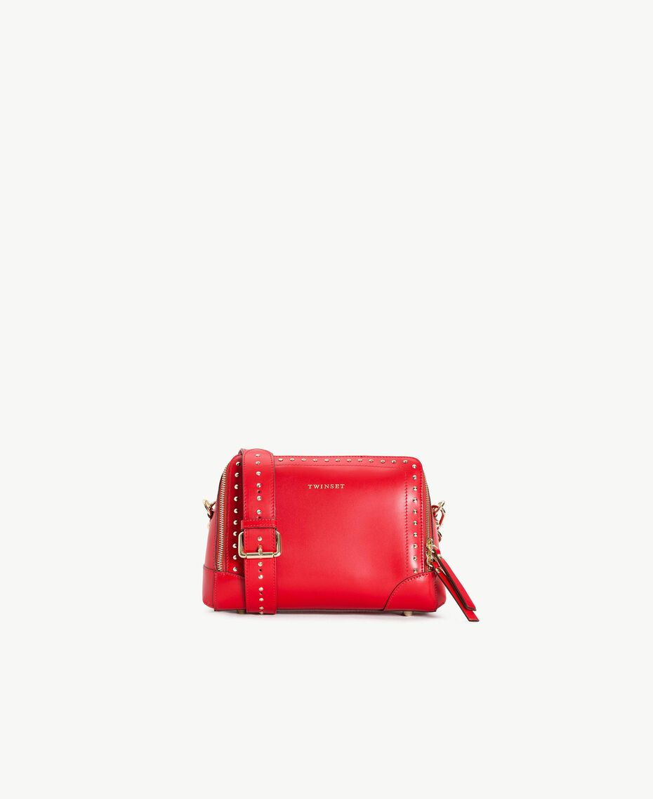 TWINSET Studded shoulder bag Ruby Woman AS8PMA-01