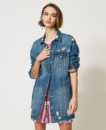 Oversized denim jacket Light Denim Woman 211MT2571-03