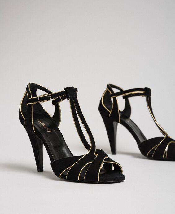 Sandali in pelle scamosciata