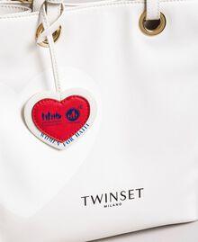 Mon Coeur Tote-Bag aus Lederimitat Weiß Vanille Frau 191TQ701A-04