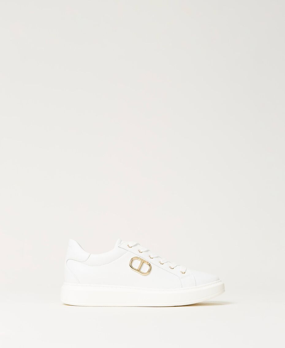 Sneakers con logo Bianco Donna 211TCT01A-01
