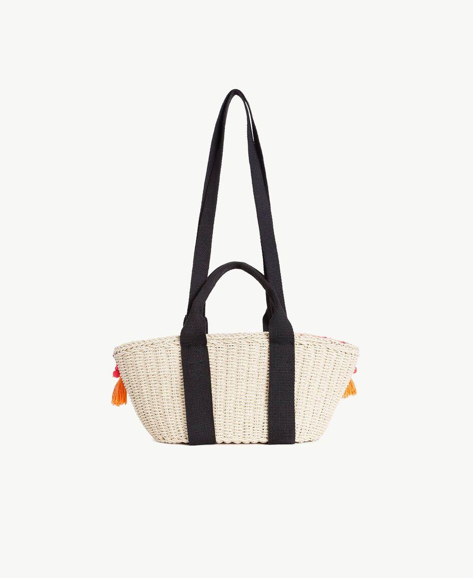 TWINSET Straw bag Multicolour Provocateur Pink / Orange / Black Woman OS8THA-03