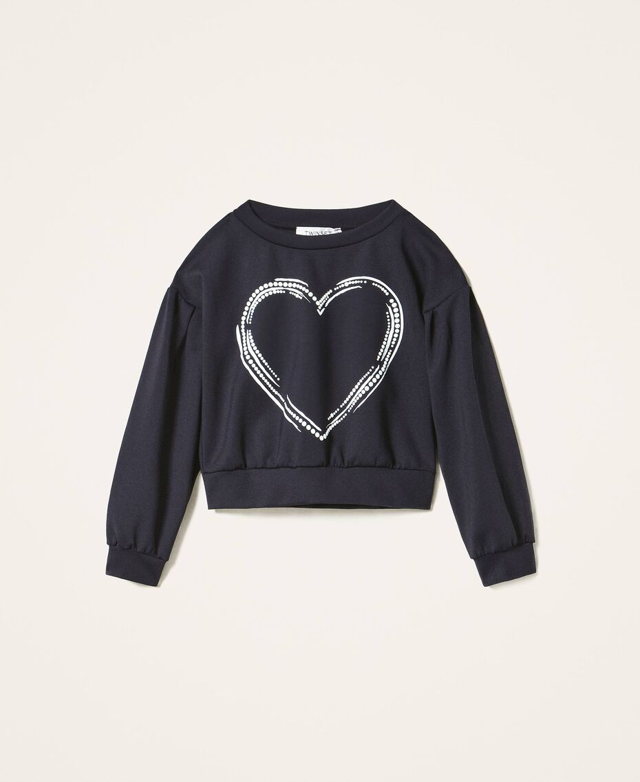 Scuba sweatshirt with heart Black Child 202GJ2702-0S