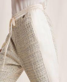 Bouclé fabric joggers Multicolour Ivory / Silver Grey Woman 201TP2231-04