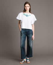 Fadeout chino jeans Denim Blue Woman 191MP2478-02