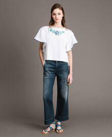 Chino-Jeans mit Fade-out-Waschung Denimblau Frau 191MP2478-02