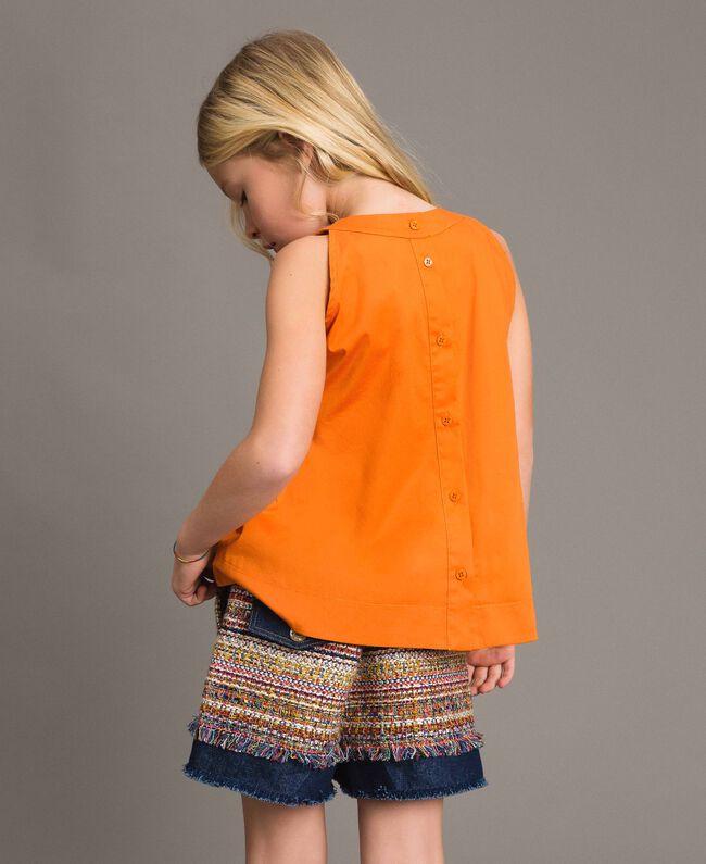 Denim shorts with inserts Bouclé Jacquard / Dark Denim Child 191GJ2021-03
