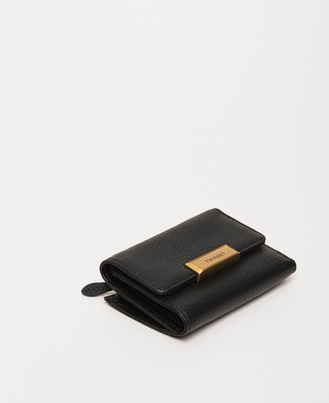 Portefeuille Bea Bag moyen en cuir Noir Femme 201TA7033-01