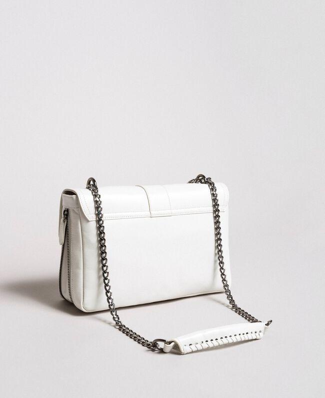 Rebel leather shoulder bag White Snow Woman 191TA7233-04