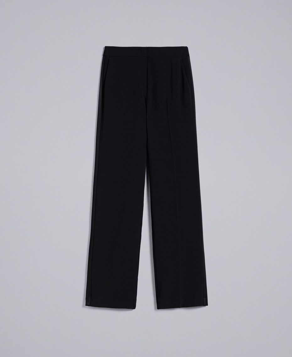 Envers satin palazzo trousers Black Woman QA8TGP-0S