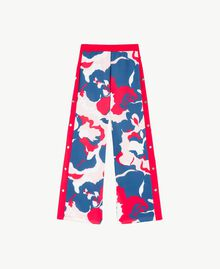"""Printed trousers """"Camouflower"""" Print Woman LS86LL-01"""
