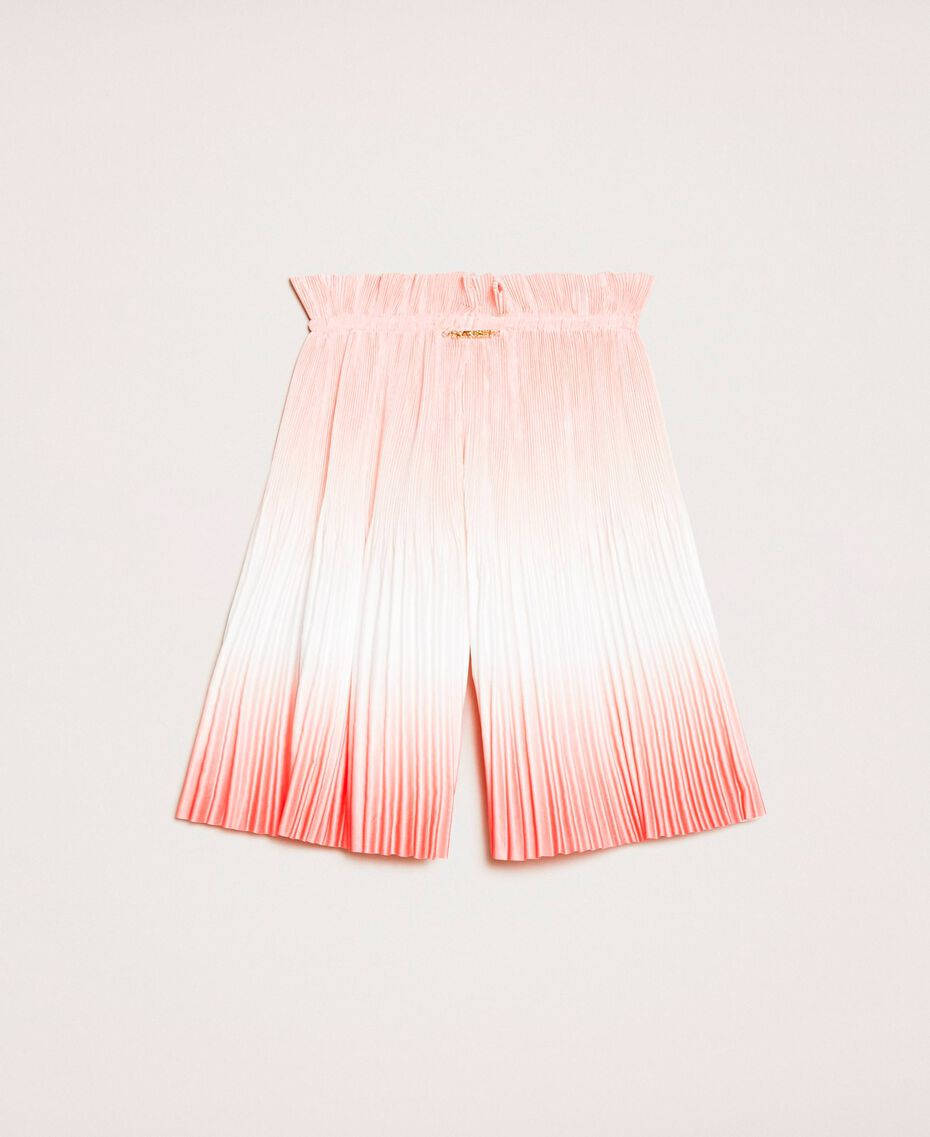 """Fadeout pleated satin trousers """"Calypso Coral"""" Red Multicolour Print Child 201GB2201-0S"""