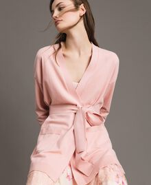 Maxi cardigan with belt Pink Pearl Woman 191TP3037-01