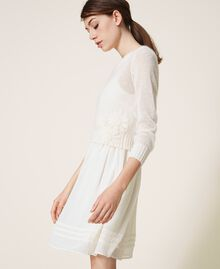 Slip dress and mohair jumper Creamy White Woman 202TP3262-05