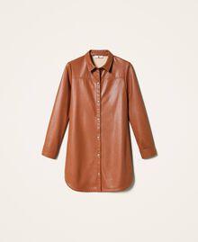 Платье-рубашка из искусственной кожи Красный Терракота женщина 202LI2GEE-0S
