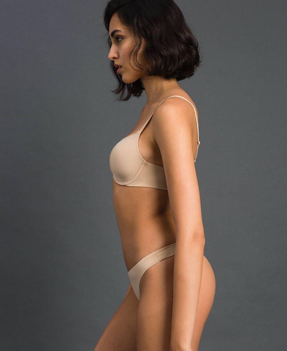 String avec nœud Rose Skin Femme LCNN88-01