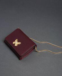 Petit sac à bandoulière avec fermoir papillon Rouge Betterave Femme 192TA7022-01