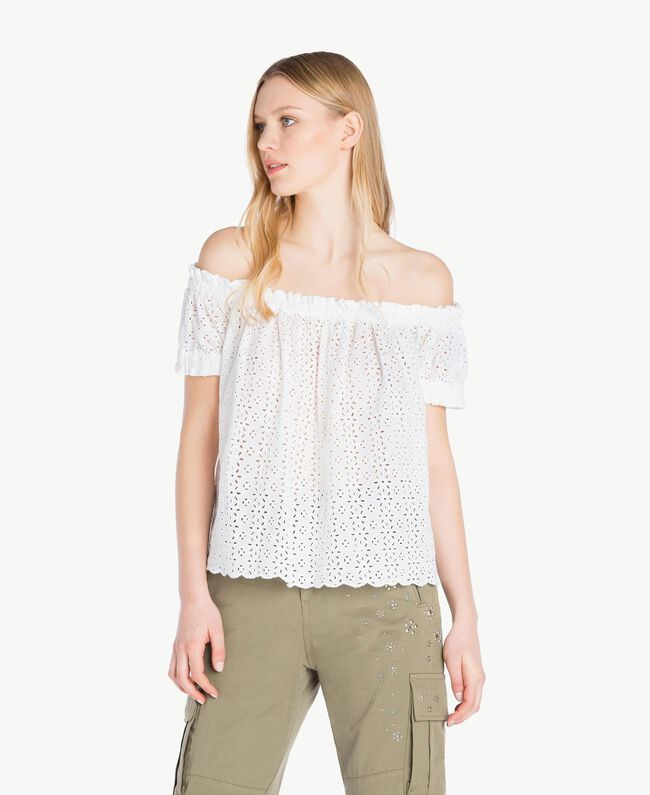 Blouse broderie anglaise Off White Femme YS82CD-01