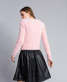 Cardigan in fur knit con spille Rose Cloud Donna JA83GB-03