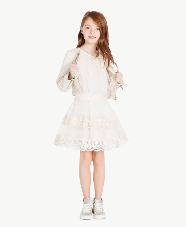 Veste cuir Chantilly Enfant GS8LFA-05